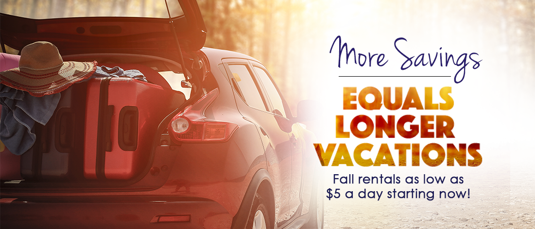 more savings longer vacations - Rent A Car With Prepaid Card